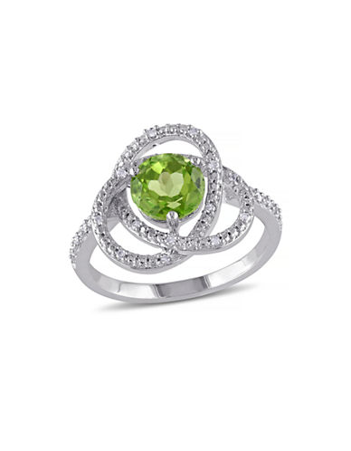 Concerto 0.1TCW Diamond and Peridot Orbit Ring-PERIDOT-8