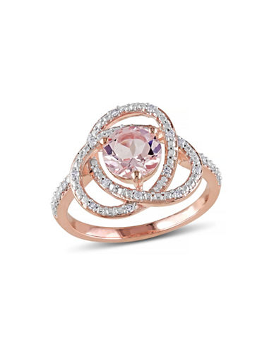Concerto Sapphire Morganite Infinity Ring-PINK-5