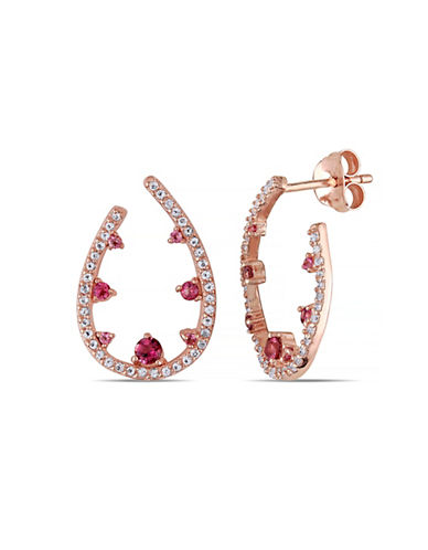 Concerto Tourmaline and Topaz Rose-Goldtone Sterling Silver Earrings-MULTI-One Size