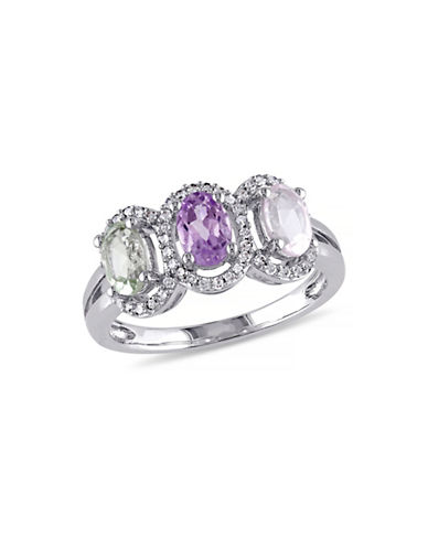 Concerto 0.2 TCW Diamond and Multi-Gemstone Sterling Silver Ring-MULTI-6