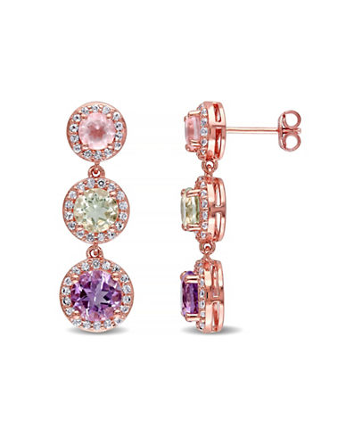 Concerto Multi-Gemstone Rose-Goldtone Sterling Silver Drop Earrings-MULTI-One Size