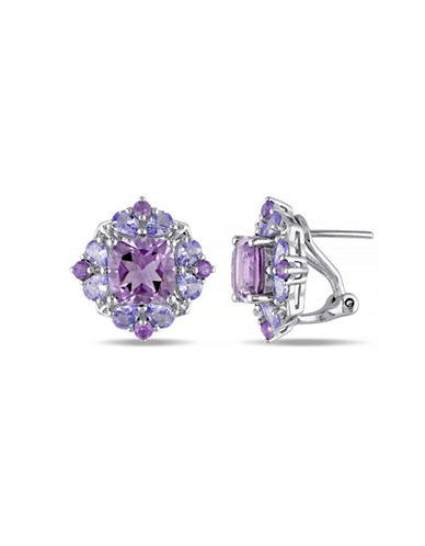 Concerto Amethyst and Tanzanite Sterling Silver Earrings-MUTLI-One Size
