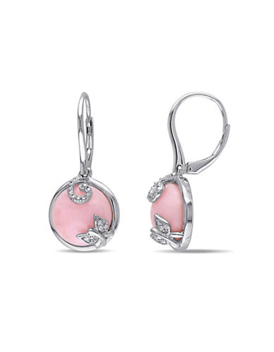 Concerto Diamond and Pink Opal Butterfly Drop Earrings-OPAL-One Size