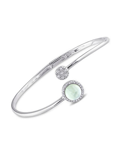Concerto Diamond White Topaz and Prehnite Accent Bracelet-TOPAZ-One Size