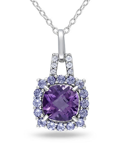 Concerto 0.06TCW Diamond and Amethyst Sterling Silver Necklace-AMETHYST-One Size