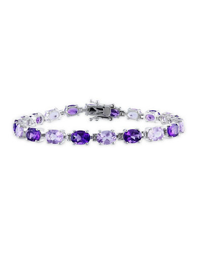 Concerto Amethyst and Rose de France Sterling Silver Bracelet-AMETHYST-One Size