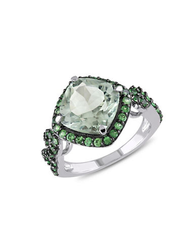 Concerto Green Amethyst and Tsavorite Sterling Silver Cocktail Ring-GREEN-5