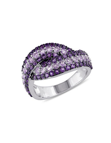 Concerto Amethyst and Rose de France Sterling Silver Ring-AMETHYST-6