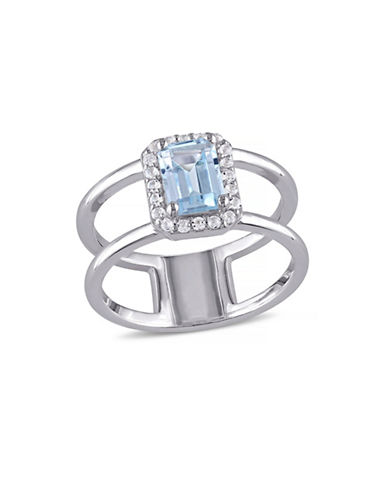 Concerto 1.6 CT TCW Blue and White Topaz Sterling Silver Halo Ring-TOPAZ-8