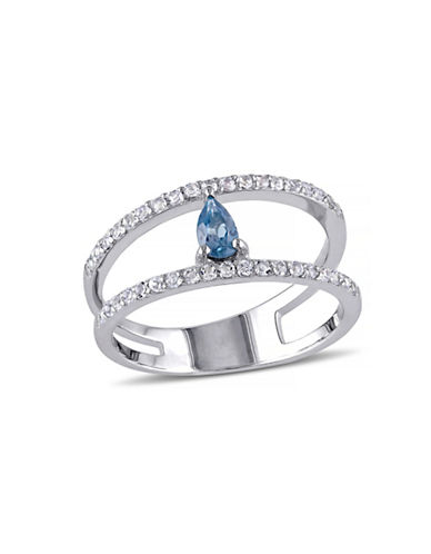 Concerto 1.01 CT TCW Blue and White Topaz Sterling Silver Ring-TOPAZ-6