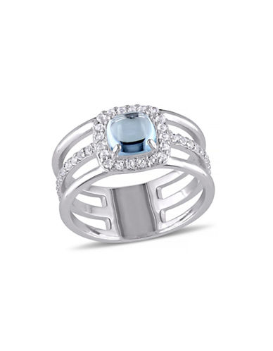Concerto 2.06 CT TCW Blue and White Topaz Sterling Silver Dome Ring-TOPAZ-5