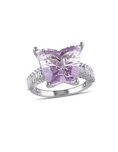 Concerto 8.70 CT TWC Amethyst and White Topaz Sterling Silver Butterfly Ring-TOPAZ-5
