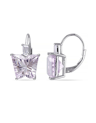 Concerto 15.30 CT TCW Amethyst and White Topaz Sterling Silver Butterfly Earrings-AMETHYST-One Size