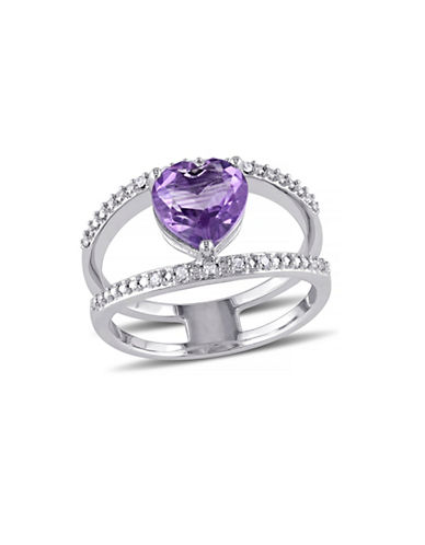 Concerto 1.45 CT TCW Amethyst and Diamond Accent Sterling Silver Heart Ring-AMETHYST-8