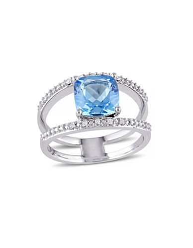 Concerto 2.45 CT Blue Topaz and Diamond Accent Sterling Silver Ring-TOPAZ-7