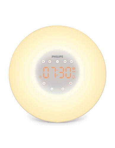 Philips Sunrise Simulation Bedside Light & FM Radio-WHITE-One Size 89433459_WHITE_One Size
