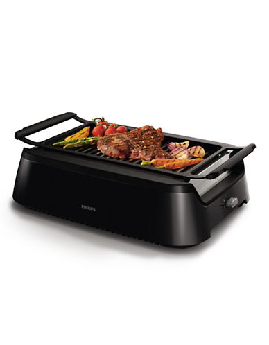 Philips Smokeless Indoor BBQ Grill-BLACK-One Size