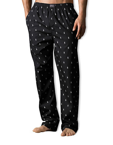 Polo Ralph Lauren Woven Sleepwear Pant-RL BLACK-Large