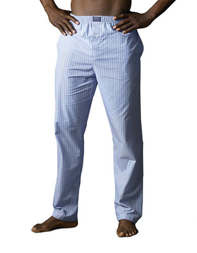 Polo Ralph Lauren Woven Sleepwear Pants-BLUE-Large