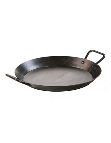 Lodge 15 inch Seasoned Carbon Steel Skillet-BLACK-One Size