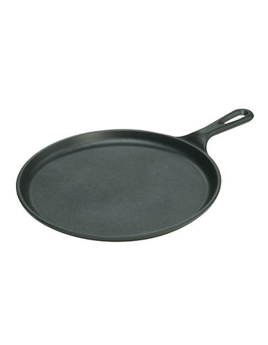 Lodge Pre-Seasoned Cast Iron Round Griddle-BLACK-One Size