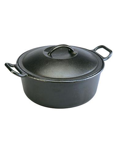 Lodge 4 quart Pre Seasoned Cast Iron Dutch Oven-BLACK-One Size