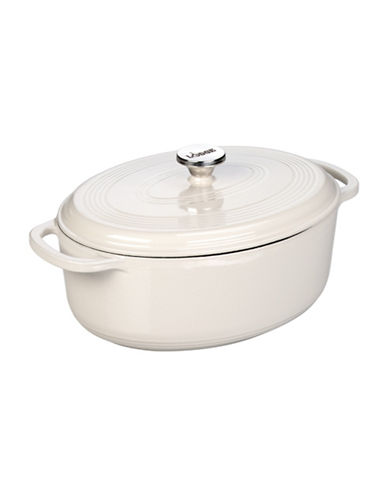 Lodge 7 Quart Oval Dutch Oven-WHITE-One Size