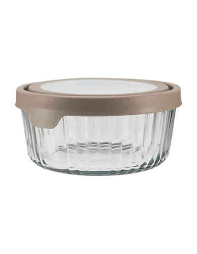 Anchor Hocking TrueSeal 7 Cup Embossed Round Food Storage and Lid-GREY-One Size 89201893_GREY_One Size