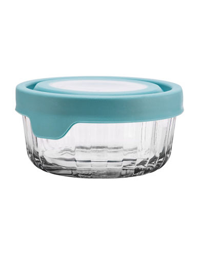 Anchor Hocking TrueSeal 2 Cup Embossed Round Food Storage and Lid-BLUE-One Size 89201910_BLUE_One Size