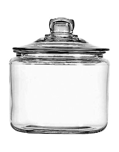 Anchor Hocking Heritage Hill 3-Quart Jar with Glass Cover-CLEAR-One Size