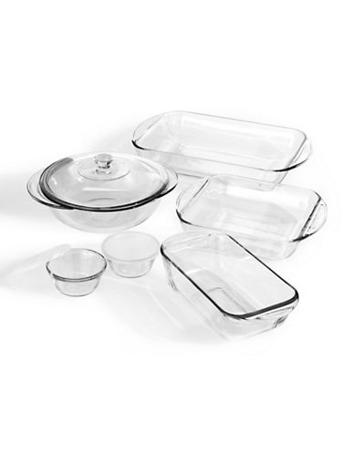 Anchor Hocking 9-piece bakeware set-CLEAR-One Size