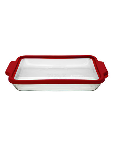 Anchor Hocking 3 Quart Baking Dish with TrueFit Lid-CLEAR-One Size