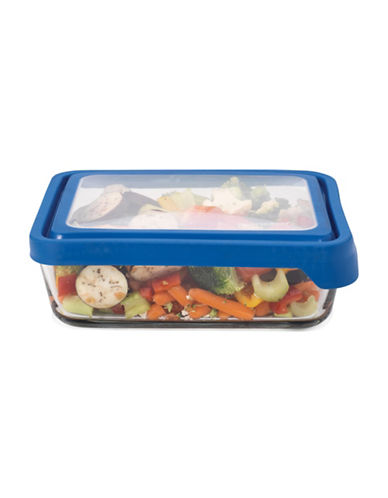 Anchor Hocking TrueSeal 11-Cup Rectangular Glass Food Storage with Lid-CLEAR-One Size
