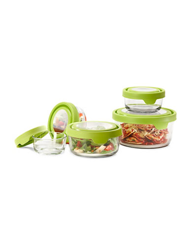 Anchor Hocking TrueSeal 10-Piece Round Glass Food Storage Set-CLEAR-One Size