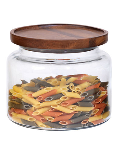 Anchor Hocking 64oz Stackable Jar with Wood Lid-CLEAR-One Size