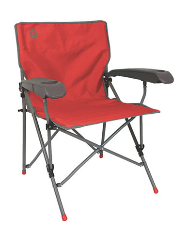 Coleman Vertex Hard Arm Chair-RED-One Size