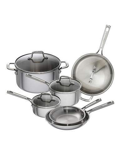 Emeril 10-Piece Stainless Steel Cookware Set - Induction Ready-STAINLESS STEEL-One Size