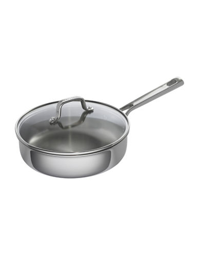 Emeril Lagasse Covered Deep Sauté Pan - 3-Quart-STAINLESS STEEL-One Size