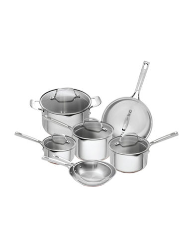 Emeril 12-Piece Copper Core Cookware Set - Induction Ready-SILVER-One Size