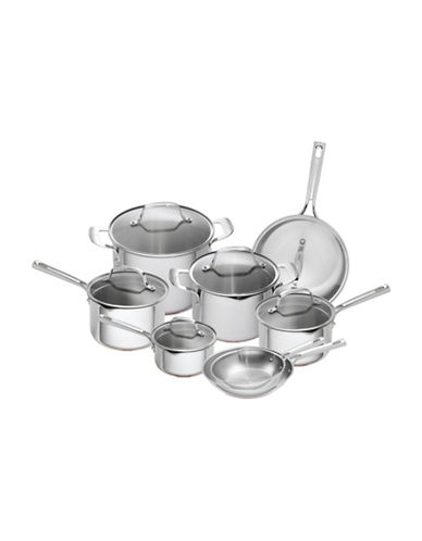 Emeril 14-Piece Copper Core Cookware Set - Induction Ready-SILVER-One Size