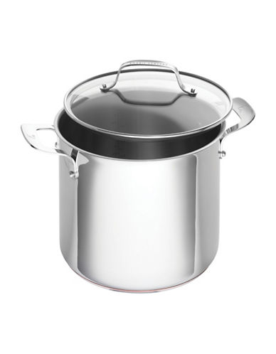 Emeril Stainless Steel Cookware Stock Pot 8-Quart-STAINLESS STEEL-8