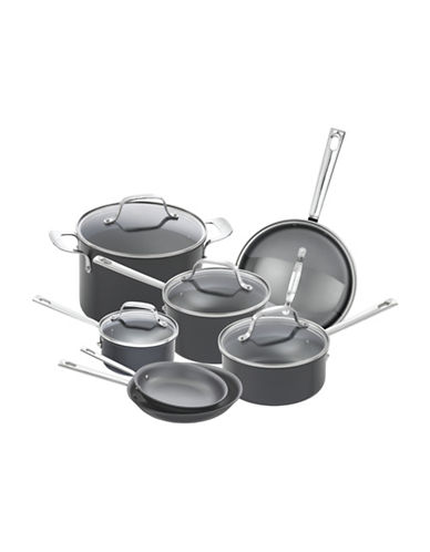 Emeril 12-Piece Hard Anodized Lagasse Cookware Set-BLACK-One Size