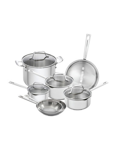 Emeril 12-Piece Stainless Steel Cookware Set - Induction Ready-STAINLESS STEEL-One Size