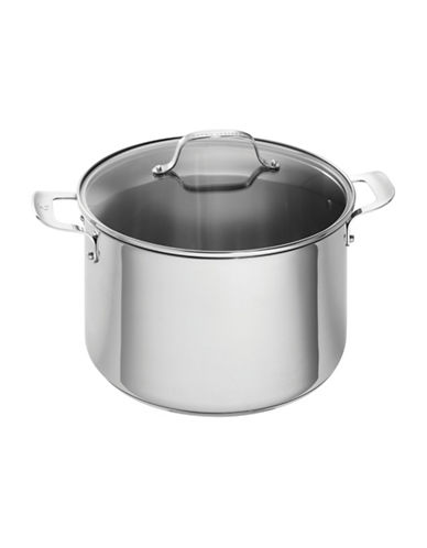 Emeril Stainless Steel Cookware Covered Stock Pot 12-Quart-STAINLESS STEEL-12