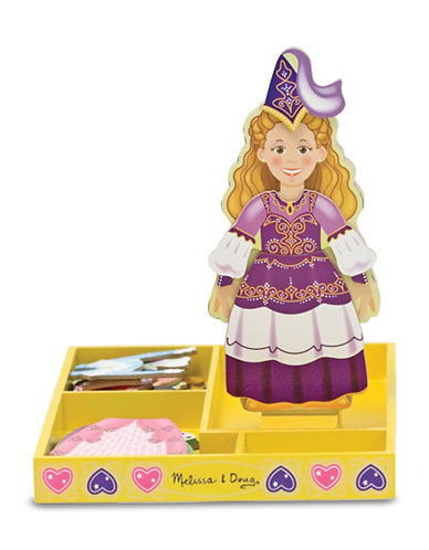 Melissa & Doug Princess Elise Magnetic Wooden Dress-Up Doll Set-MULTI-One Size