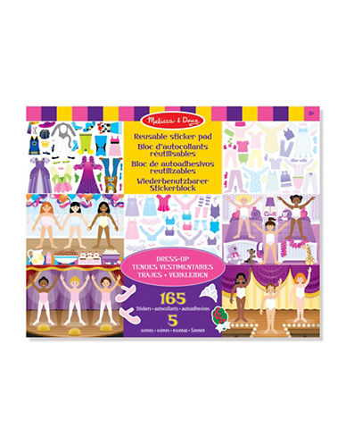 Melissa & Doug Reusable Dress Up Sticker Pad-MULTI-One Size
