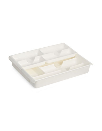 Essential Needs Sliding Tray Organizer-WHITE-One Size