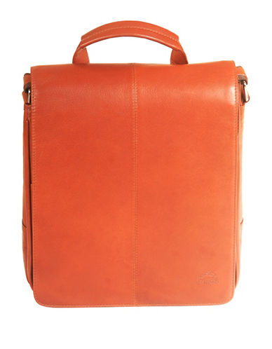 Mancini Colombian RFID-Secure Mancini Leather Crossbody-BEIGE-One Size
