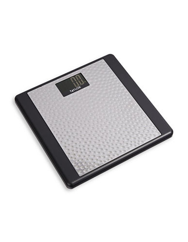 Springfield Taylor Hammered Digital Bathroom Scale-BLACK-One Size