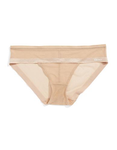 Dkny Mesh Bikini Panty-NUDE-Large